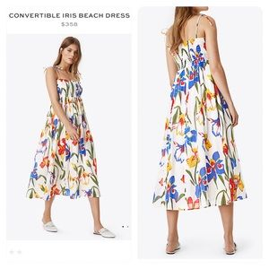 NWT! Tory Burch CONVERTIBLE IRIS BEACH DRESS